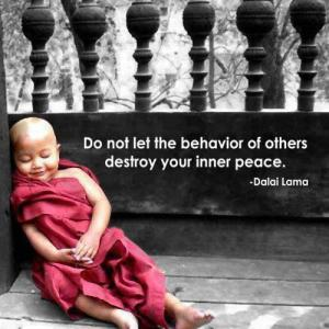 do not let others destroy your inner peace