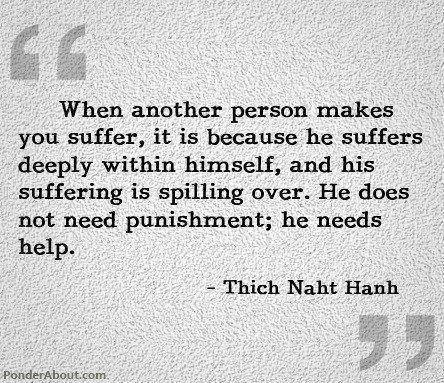 compassion for those who make you suffer