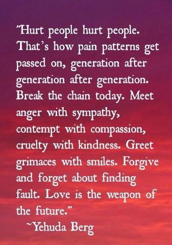 break the chain of hurt